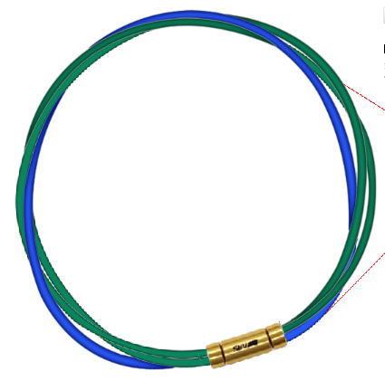 セブ SEV スポーツネックレス ルーパータイプ3G 納期2週間 54cm グリーン2本/ブルー