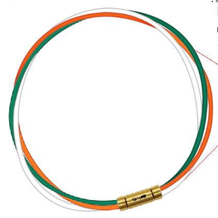 セブ SEV スポーツネックレス ルーパータイプ3G 納期2週間 54cm グリーン/オレンジ/ホワイト