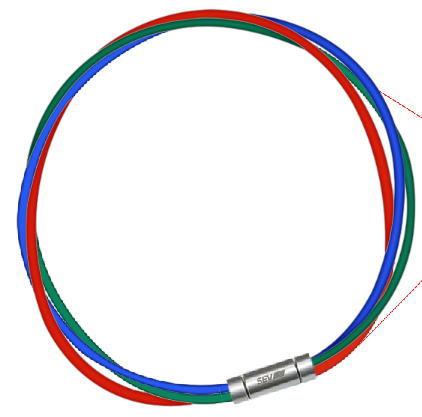 磁気アクセサリー, 磁気ネックレス  SEV 3M 2-3 54cm