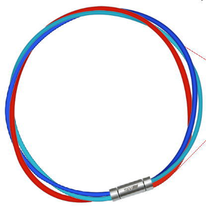 セブ SEV スポーツネックレス ルーパータイプ3M 納期2週間 54cm ブルー/ライトブルー/レッド:スポーツダイアリー