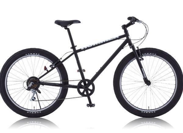 HUMMER ハマー 26インチクロスバイク自転車 TANK3.0 ブラック 【送料無料】沖縄含む離島送料別途見積り 極太タイヤ 6段変速