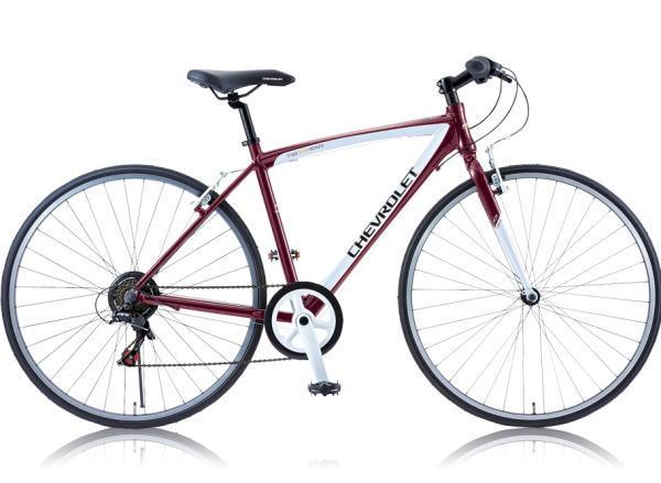 CHEVROLET シボレー 700x28Cクロスバイク自転車 CHEVY AL-CRB7006NX レッド 【送料無料】沖縄含む離島送料別途見積り 6段変速