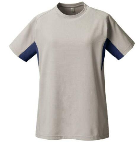 プロモンテ PuroMonte トリプルドライカラットライトウエイト半袖Tシャツ レディースTN155Wグレー/ネイビー