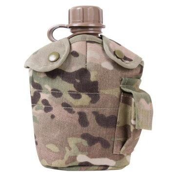 ROTHCO ロスコ GIスタイル 1QT ブラスチック キャンティーンボトル水筒 カバー付き[T] マルチカモ