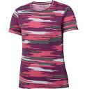 asics アシックス Ws ランニングプリントTシャツ SS半袖 XXL579 レディース ICピンク<店頭在庫限り>