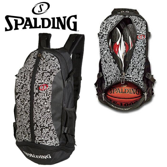 SPALDING CAGER(ケイジャー) キース・ヘリング ブラック Keith Haring Black バスケット専用バックパック 40-007KHBK スポルディング