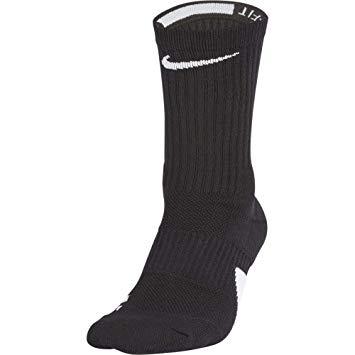 【ネコポス対応】NIKE ナイキ NIKE バスケットボール Elite Crew Socks エリート クルーソックス SX7622-013 ブラック/ホワイト/(ホワイト)