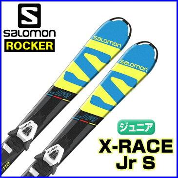 サロモン ジュニア ロッカースキー 110cm 120cm X-RACE Jr S + C5 サロモン ジュニアスキー 板+ビンディング 2点セット 110cm 120cm 【即納OK】SALOMON L39959600 ●17-18