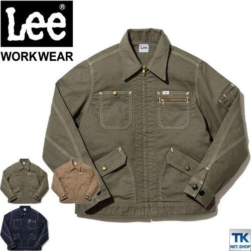 Lee ジップアップ ジャケット レディース ブルゾン Lee WORKWEAR ストレッチダック リー ZIP-UP JA...
