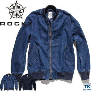ROCKY デニムMA-1ジャケット ユニセックス 作業服 作業着 WORKWEAR ロッキー デニムジャケット bm-rj0907