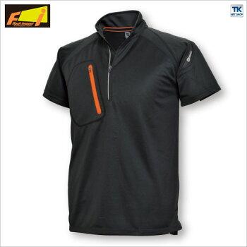 半袖ハーフジップシャツスポーツウェアFLASHIMPACT消臭・吸汗速乾tw-5015