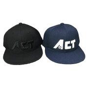 キャップフラットキャップ帽子ロゴ入りスナップ式スナップバックスタイルブラックネイビーフリーサイズ野球
