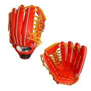アトムズ硬式外野手用グラブAGL-801野球グローブ右投用レッドオレンジ