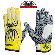 スパイダーズSpiderz一般バッティング手袋大人用ハイブリッドHybrid輸入両手用野球バッティンググローブ