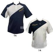 ミズノプロアクトオリジナル半袖ベースボールシャツソーラーカットベースボールシャツ12JC7L01ホワイトネイビー野球大学野球社会人野球草野球大学生高校生大人一般ミズプロmizunopro