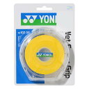YONEX (ヨネックス) ラケットスポーツ グリップテープ ウェットスーパーグリツプ イエロー AC102-5P