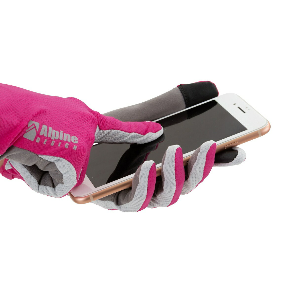 Alpine DESIGN (アルパインデザイン) トレッキング アウトドア トレッキングアパレルアクセサリー レディース トレッキング フィールド グローブ レディース ピンク AD-Y18-401-009 PNK
