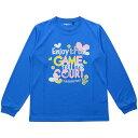 ● s.a.gear (エスエーギア) バスケットボール ジュニア長袖Tシャツ ジュニア長袖グラフィックT GAME ガールズ ブルー SA-F18-003-015