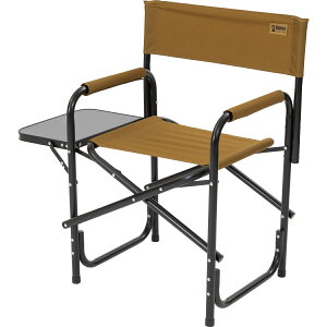 Alpine DESIGN (アルパインデザイン) キャンプ用品 ファミリーチェア サイドテーブル付アルミディレクターチェア コヨーテブラウン AD-S19-015-045