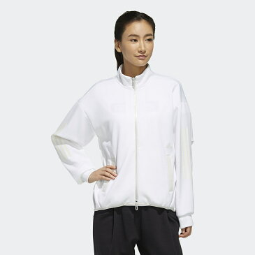 ● adidas (アディダス) レディーススポーツウェア ウォームアップジャケット W MHE ウォームアップジャケット レディース ホワイト GUN92 FM5167