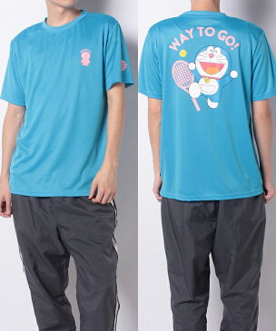 s.a.gear (エスエーギア) ラケットスポーツ アパレル ドラえもんテニス半袖Tシャツ ターコイズ SA-S20-004-006