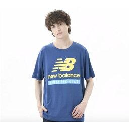 ● New Balance (ニューバランス) NB ESSENTIALS FIELD DAY NBロゴ Tシャツ メンズスポーツウェア 半袖シャツ メンズ キャプテンブルー AMT11517CNB