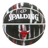 スポルディング ゴムバスケットボール7号 シカゴブルズ マーブル(ブラック) あす楽対応