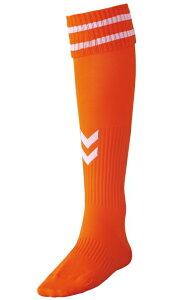 ヒュンメル サッカー ジュニアストッキング HJG7070J オレンジ/ホワイト(取り寄せ商品)