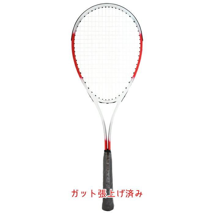 カワサキソフトテニスラケット初心者軟式テニスラケット(TS-2000)ケース付き27インチガット張上げ済み遊び・レジャー用ソフトテニスkawasaki