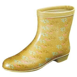 MoonStar(MOONSTAR)女子的事情雨高筒靴raberia 10淺駝色