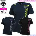 デサント レディース 半袖 Tシャツ トレーニングウェア バレーボール 限定モデル ウェア DVWNJA51 3カラー 練習着 バレー DESCENTE 運動 ジム スポーツウェア シャツ 女性 人気 おすすめ