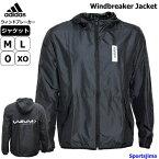 アディダス ウインドブレーカー ジャケット メンズ トレーニングウェア パーカー GER41 EI5588 ブラック 上着 アウター スポーツ 運動 ジム ウェア スポーツウェア ウエア おすすめ 人気 adidas 男女兼用 おしゃれ 防風