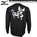 mizuno ミズノ 長袖 メッセージ Tシャツ 87SP207 ブラック 【努力は嘘をつかない】