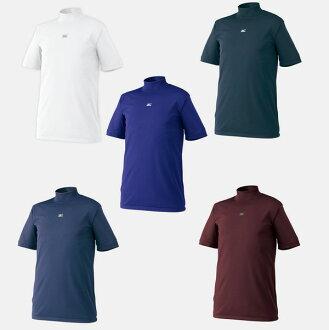 [美津濃-美津濃]高領/短袖貼身襯衫/內部襯衫棒球用品/服裝