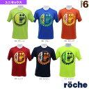 【テニス・バドミントン ウェア(メンズ/ユニ) ローチェ(roche)】 ローチェクラウンTシャツ/ユニセックス(R8TU1T)