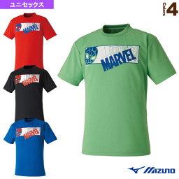 【テニス・バドミントン ウェア(メンズ/ユニ) ミズノ】 MARVEL マーベルTシャツ/Type1/スパイダーマンシリーズ/ユニセックス(72JA9Z53)
