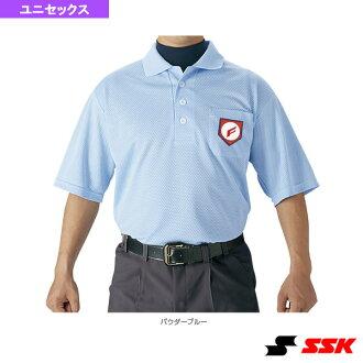 職業棒球裁判短袖 polo 衫 UPW027 器皿 SSK 的裁判