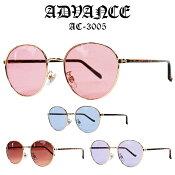 ADVANCEサングラス[アドバンス]メガネ伊達眼鏡アクセサリーファッション小物SUNGLASSメンズ小物レディースファッション丸型AC-3005A