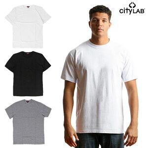 CITYLABシティーラブ/PLAINCREWNECKTEEWHT、BLKプレーンクルーネックTシャツホワイト、ブラック無地、定番、オシャレ、メンズファッション、レディース、インナー、ベーシック、メンズ、ストリート、高級、ハイファッション(tee001)