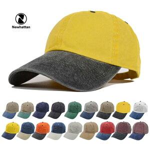 ニューハッタンコットンキャップローキャップウォッシュ加工NEWHATTAN帽子小物ベースボールキャップ