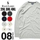 大きいサイズ ラルフローレン 長袖 Tシャツ メンズ POLO RALPH LAUREN ポロ サーマル ロンT USAモデル ビッグシルエット オーバーサイズ ビッグサイズ 特大 ビッグT USA ブランド ファッション ブラック グレー ネイビー 黒 紺 赤 2XL 3XL 4XL