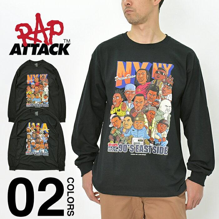 トップス, Tシャツ・カットソー  T T RAP ATTACK LS Tee NY LA T T HIPHOP 90