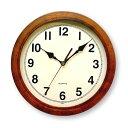 あす楽さんてる レトロ 電波掛時計DQL501antique丸型アンティークブラウン昭和レトロ調電波時計掛け時計置時計日本製