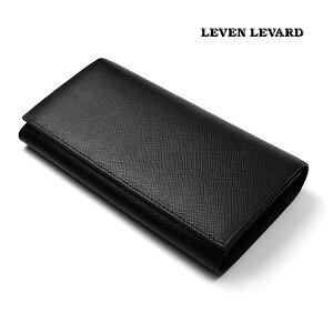 二つ折り 長財布 LV-W02B イタリアレザー 本革 サフィアーノレザー メンズ 財布 2つ折り 札入れ 小銭入れ付き ビジネス カジュアル