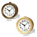 Lemnos RIKI ALARM CLOCK レムノス WR09-15 ブラウン/ナチュラル アラーム時計 目覚まし時計