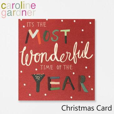 キャロラインガードナー グリーティングカード クリスマス カード caroline gardner Christmas Cardブランド デザイナーズ カード UK ロンドン PNT502ギフト プレゼント