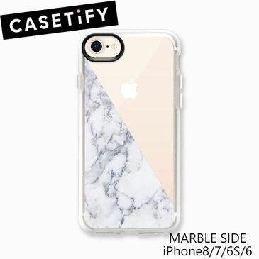アイフォンケース ケースティファイ CASETiFY MARBLE SIDE iPhone7 iPhone8 iPhoneSE 第二世代おしゃれ アイフォン ケース カバー 頑丈 グリップ ブランド LA 海外 ギフト プレゼント 母の日
