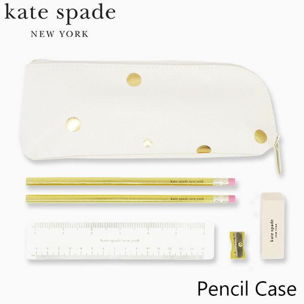 ケイトスペードニューヨークペンケースペンシルケースkatespadenewyorkPencilCaseブランドデザイナーズステーショナリーUSAアメリカニューヨーク193636-PencilCase,GoldDotsギフトプレゼント