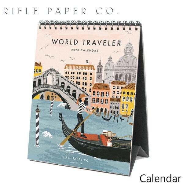 ライフルペーパー 卓上 カレンダー ワールドトラベラー 2020 デスクカレンダー RIFLE PAPER CO. World traveler 2020 DESK CALENDARカレンダー ブランド デザイナーズ USA アメリカ CAL052ギフト プレゼント