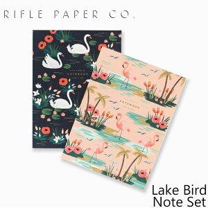 ライフルペーパー ノート 2冊 セット レイクバード ノート セット RIFLE PAPER CO. Lake Bird Note Setノート ブランド デザイナーズ 罫線無し 無地 USA アメリカ JMM003ギフト プレゼント